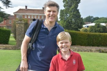 Parent and Son on Elstree School Golf Course